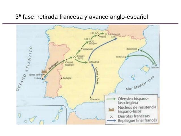 3ª fase: retirada francesa y avance anglo-español