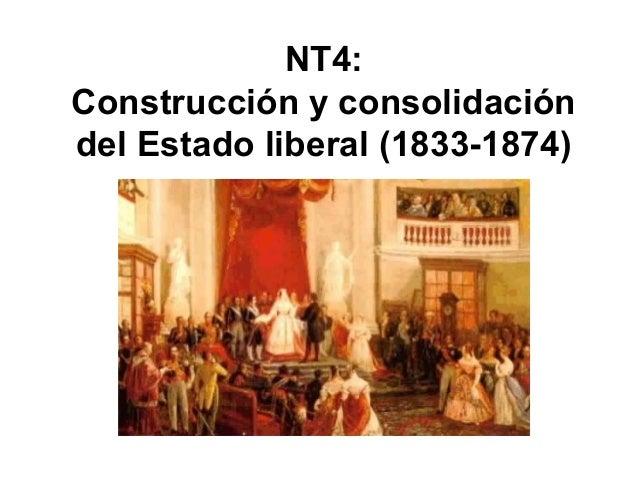 NT4: Construcción y consolidación del Estado liberal (1833-1874)