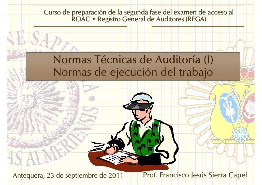 Curso de preparación de la segunda fase del examen de acceso al                  ROAC • Registro General de Auditores (REG...