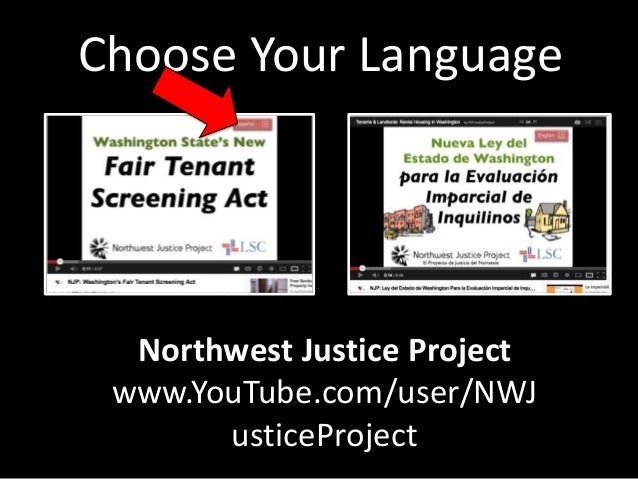 northwest justice project Washington state's publicly funded legal aid program that employs more than 100 lawyers and paralegals working in 17 locations throughout washington.