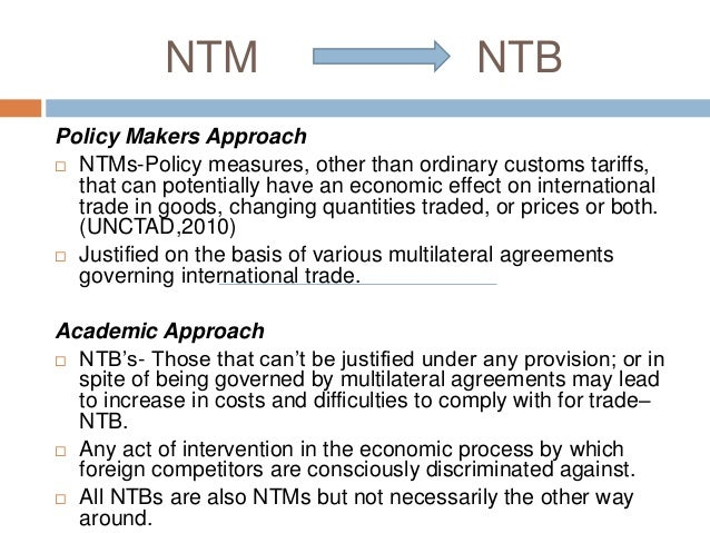 difference between tariff and non tariff barriers Tariff and non tariff barriers 1 tariff and non – tariff barriers overview 2 trade barriers used to encourage and protect existing domestic industry trade barriers are tariffs that increase trade weaken trade restrict trade quotas boycotts and embargoes 3.