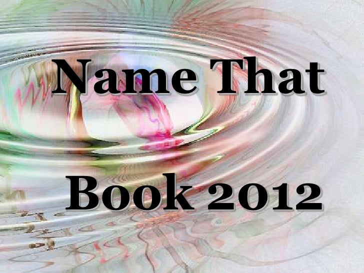 Name That Book 2012<br />