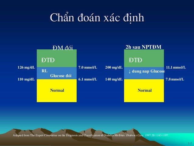 ChÈn ®o¸n x¸c ®Þnh Adapted from The Expert Committee on the Diagnosis and Classification of Diabetes Mellitus. Diabetes Ca...