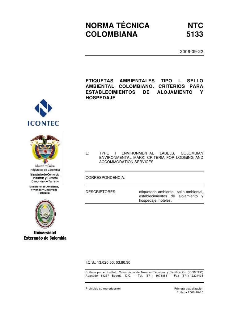 NORMA TÉCNICA                                                       NTC                          COLOMBIANA               ...