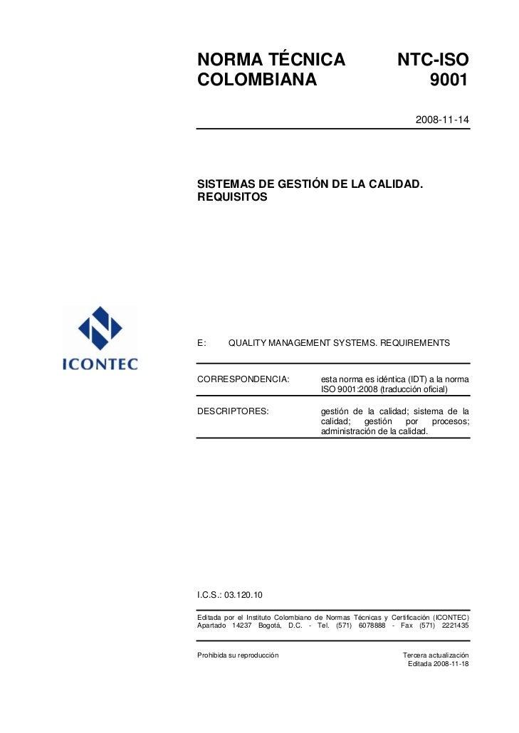 NORMA TÉCNICA                                             NTC-ISOCOLOMBIANA                                               ...