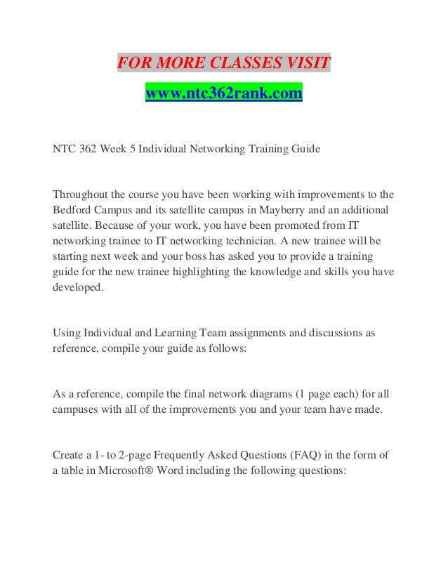 NTC 362 RANK Educational Specialist--ntc362rank com