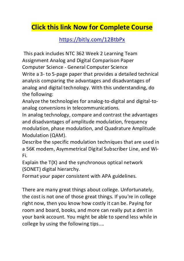 NTC 362 Week 4 LTA Hardware and Software Paper