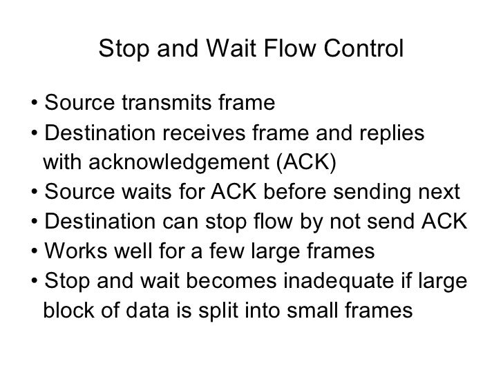 simplex stop and wait protocol for a noisy – automatic repeat request (arq) – co-existence or modifications to end-to-end protocols  the simplex stop & wait protocol network layer network layer data link layer data link layer ack channel  the simplex protocol for a noisy channel –timeout interval too short •duplicate packets.