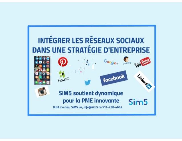 Intégrer les réseaux sociaux dans une stratégie d'entreprise  conférence sim5 rénovation