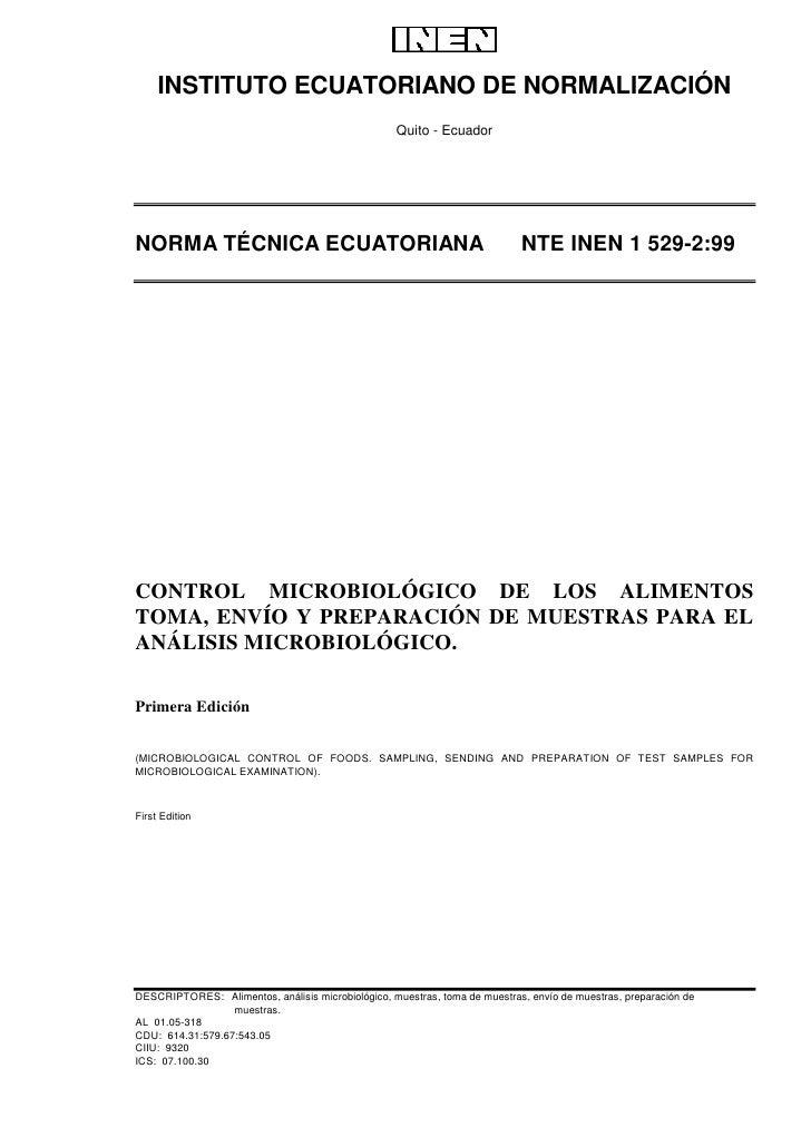 INSTITUTO ECUATORIANO DE NORMALIZACIÓN                                                   Quito - EcuadorNORMA TÉCNICA ECUA...