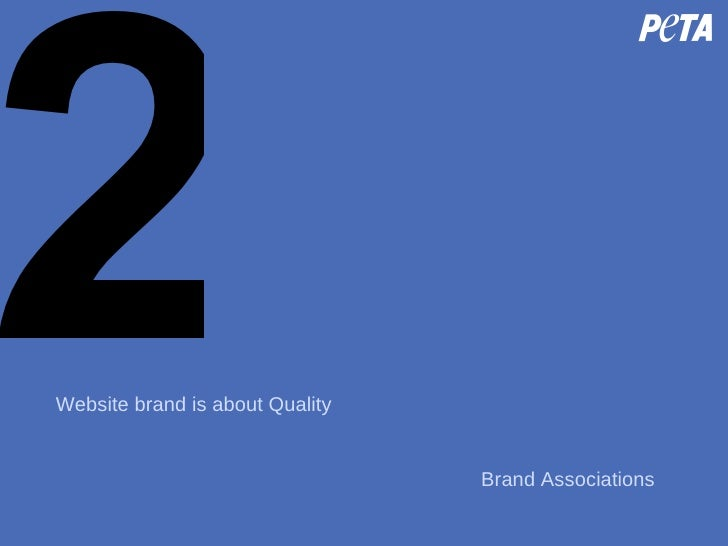2 Website brand is about Quality Brand Associations