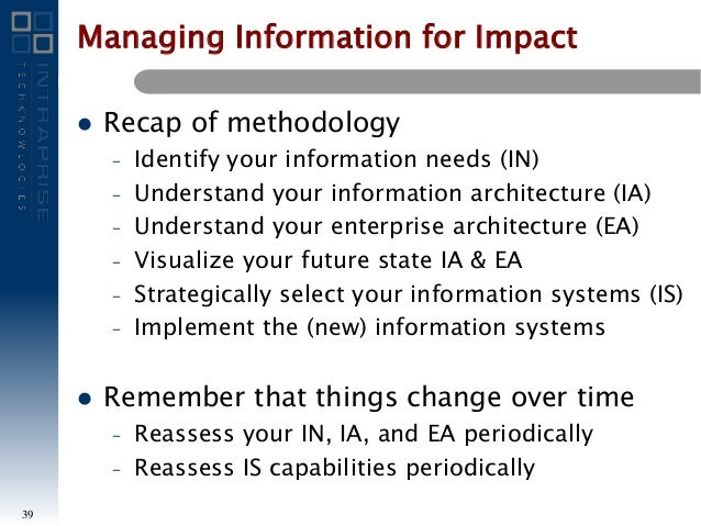Managing Information For Impact