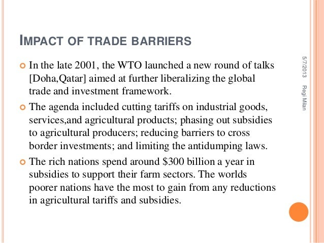 if agricultural tariffs and subsidies to producers were removed overnight
