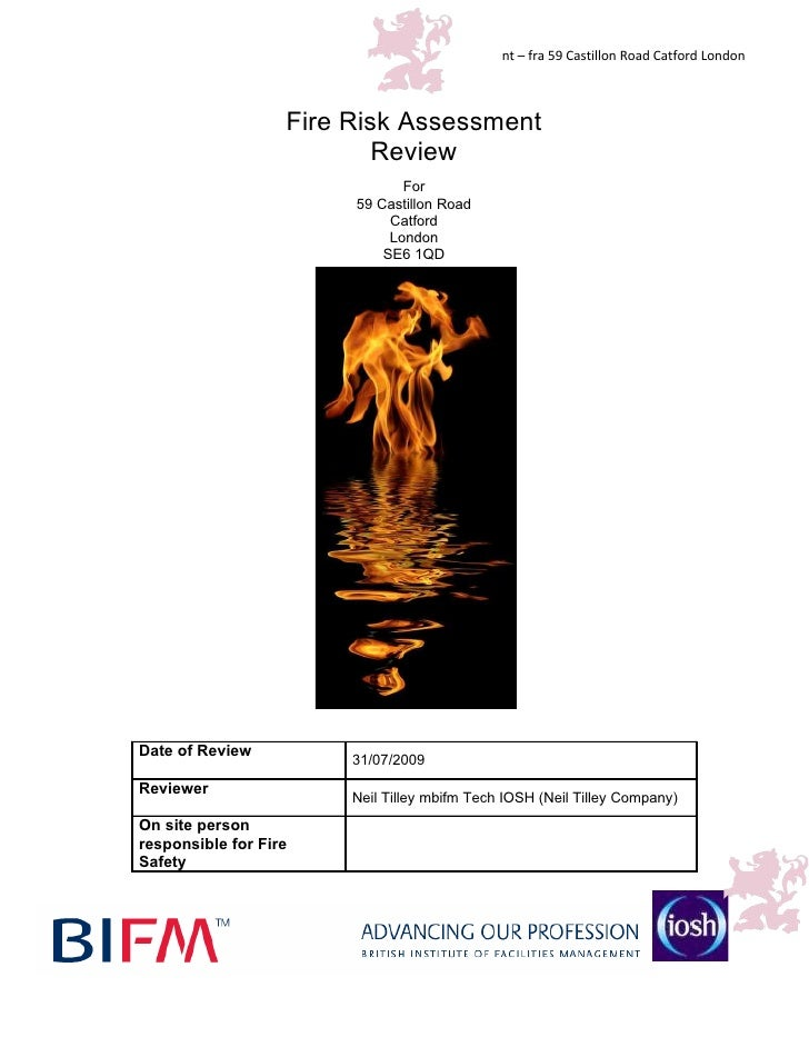 nt – fra 59 Castillon Road Catford London                       Fire Risk Assessment                            Review    ...
