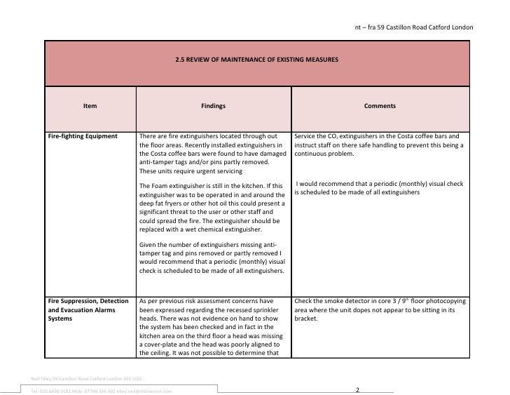 My Fire Risk Assessment Template