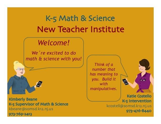 Katie Costello  K-5 Intervention  kcostell@somsd.k12.nj.us  973-476-8440  Kimberly Beane  K-5 Supervisor of Math & Sc...