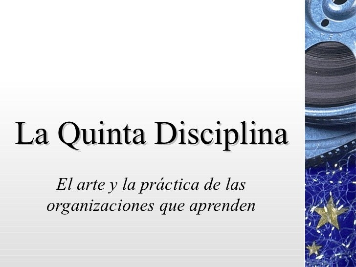 la quinta disciplina Peter senge was born in stanford, california he received a bs in aerospace engineering from stanford university while at stanford, senge also studied philosophy.