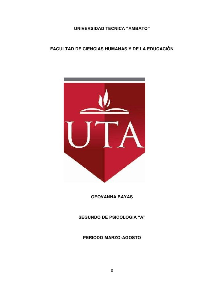 """UNIVERSIDAD TECNICA """"AMBATO""""<br />FACULTAD DE CIENCIAS HUMANAS Y DE LA EDUCACIÒN<br />11391902286000<br />GEOVANNA BAYAS<b..."""