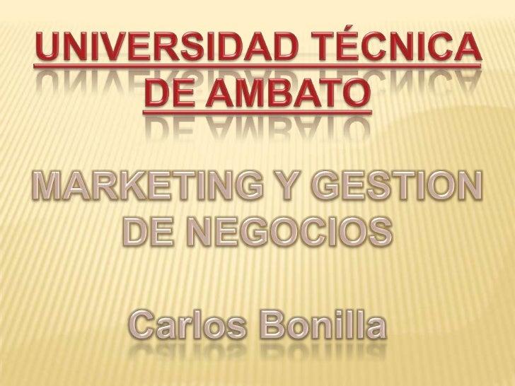 La misión de la Universidad Técnica de Ambato: satisfacer las demandas científico - tecnológicas de lasociedad ecuatoriana...