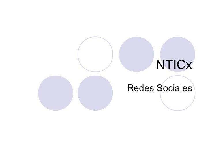 NTICxRedes Sociales