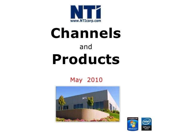 Channels andProducts<br />May  2010<br />