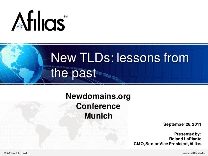 SM                    New TLDs: lessons from                    the past                       Newdomains.org             ...