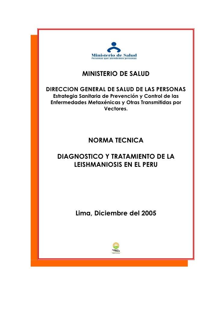 MINISTERIO DE SALUD  DIRECCION GENERAL DE SALUD DE LAS PERSONAS   Estrategia Sanitaria de Prevención y Control de las  Enf...