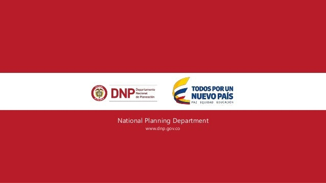 National Planning Department www.dnp.gov.co