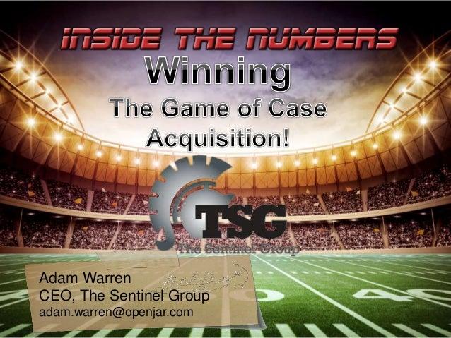 Adam Warren CEO, The Sentinel Group adam.warren@openjar.com
