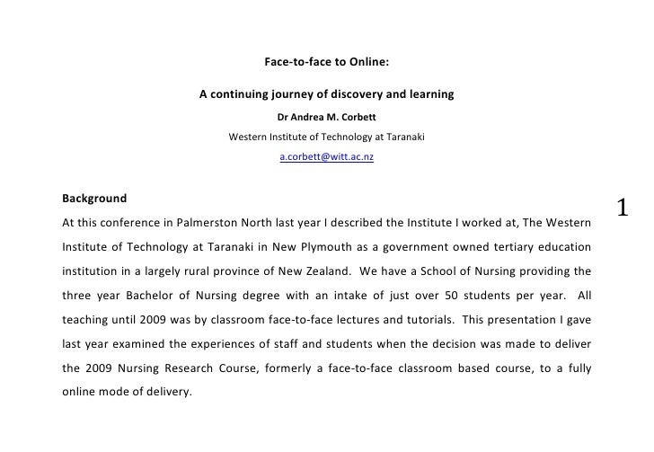 Face-to-face to Online:                           A continuing journey of discovery and learning                          ...