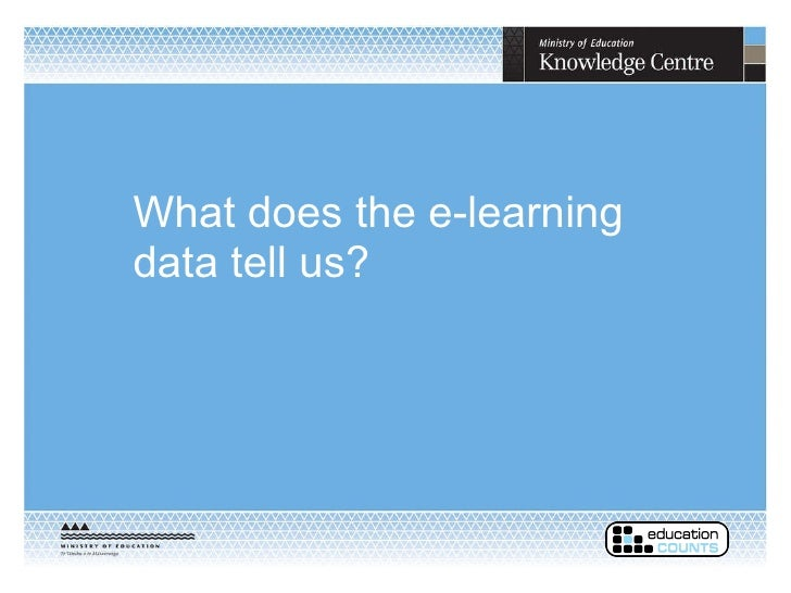 What does the e-learning data tell us?