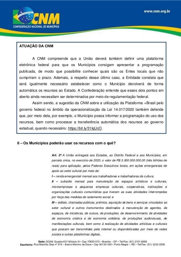 Sede: SGAN Quadra 601 Módulo N • Cep 70830-010 • Brasília – DF • Tel/Fax: (61) 2101-6000 Escritório: Rua Marcílio Dias nº...