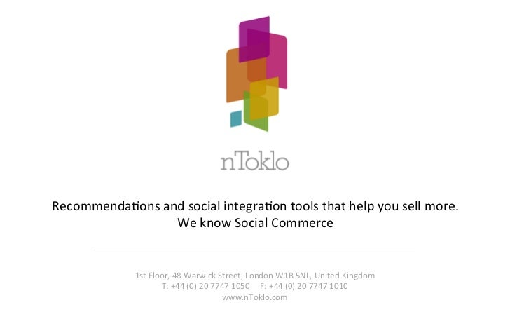 RecommendaHons and social integraHon tools that help you sell more.                     We know So...