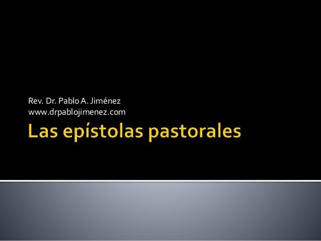 Rev. Dr. Pablo A. Jiménez www.drpablojimenez.com