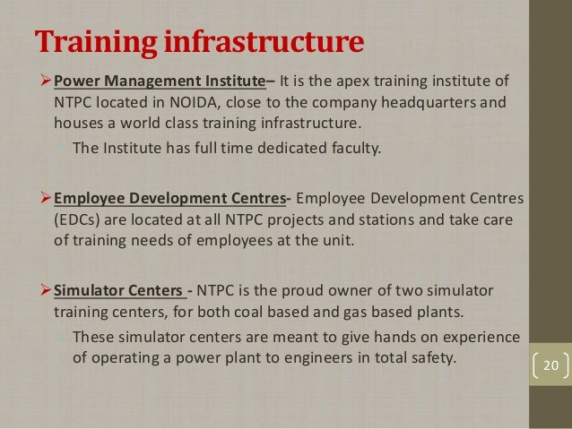 hr policies in ntpc 'people before plf (plant load factor)' is the guiding philosophy behind the entire gamut of hr policies at ntpc.