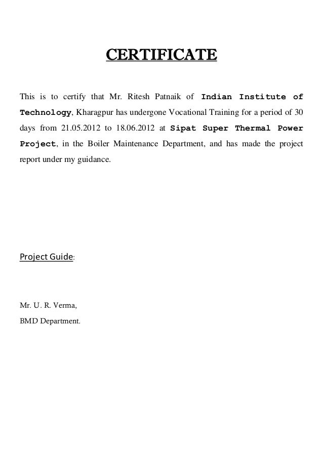 Ntpc National Thermal Power Corporation Sipat Mechanical