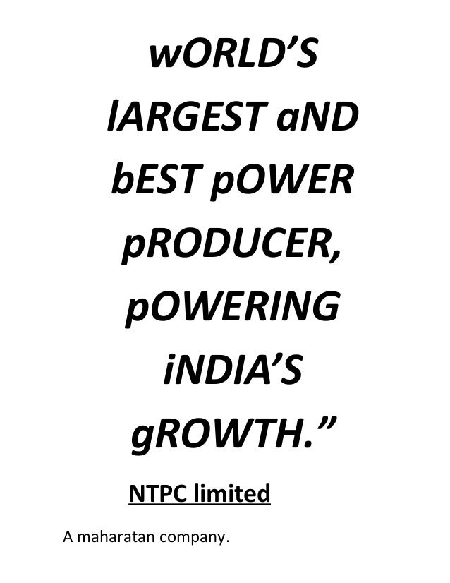 Ntpc (national thermal power corporation) sipat mechanical