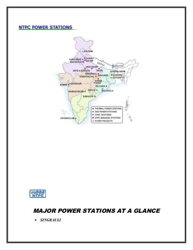 Ntpc project ( mba)