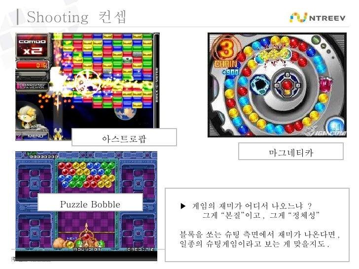 """Shooting  컨셉 마그네티카 아스트로팝 Puzzle Bobble ▶  게임의 재미가 어디서 나오느냐  ?    그게 """"본질""""이고 ,  그게 """"정체성"""" 블록을 쏘는 슈팅 측면에서 재미가 나온다면 , 일종의 슈팅게임..."""