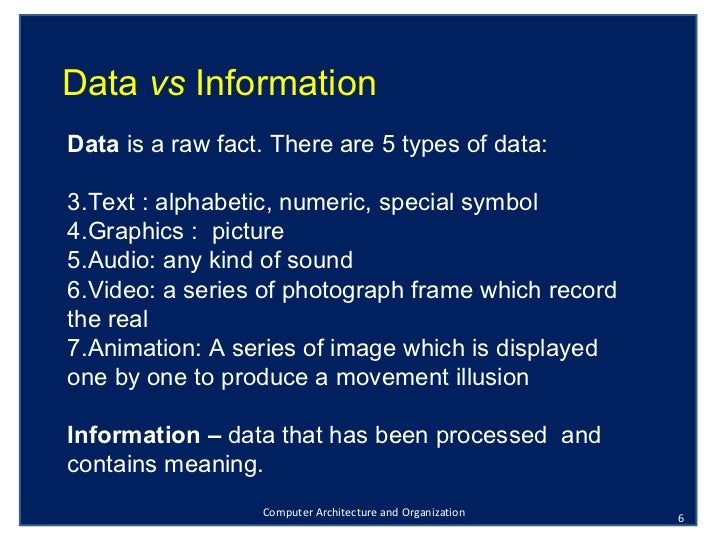 organization data and information essay Watch this lesson to learn about informative essays and how they educate  ' they can define a term, compare and contrast something, analyze data, or  provide a how-to  some organization schemes you might consider include  presenting.