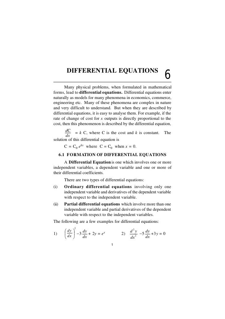 DIFFERENTIAL EQUATIONS                                                                   6       Many physical problems, w...