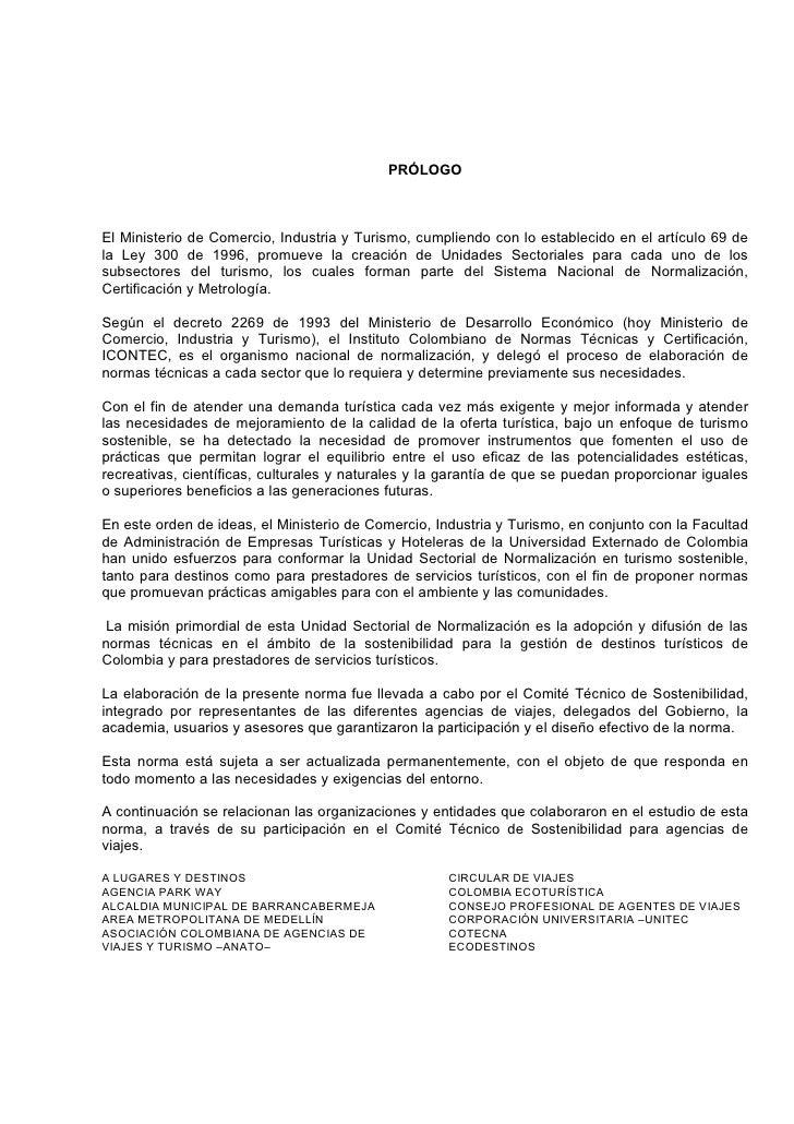 PRÓLOGOEl Ministerio de Comercio, Industria y Turismo, cumpliendo con lo establecido en el artículo 69 dela Ley 300 de 199...