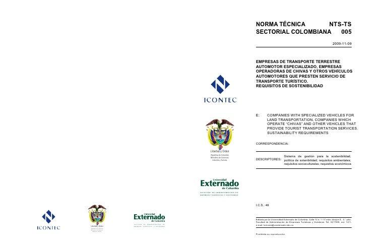 NORMA TÉCNICA      NTS-TS                                                                                              SEC...