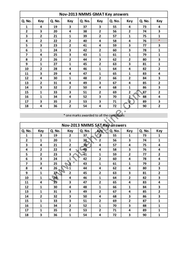 Cds 1 2014 answer key pdf