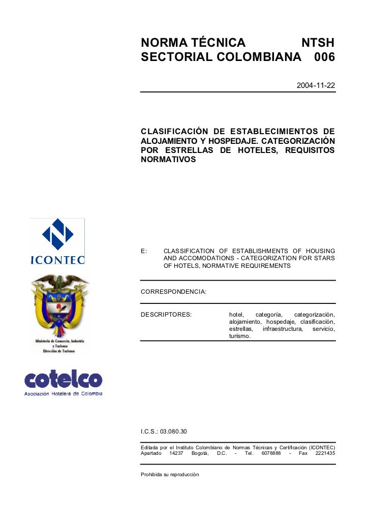 NORMA TÉCNICA       NTSHSECTORIAL COLOMBIANA 006                                                                 2004-11-2...