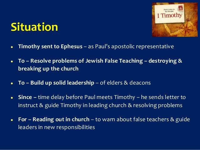 new testament survey no.25: paul - first letter to timothy