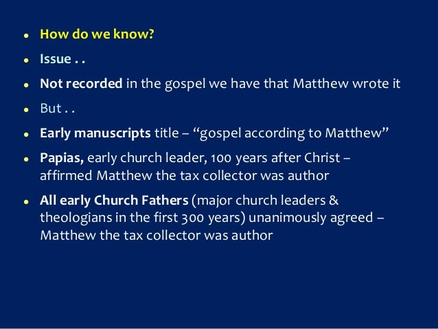 which gospel was written first