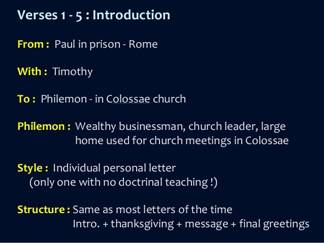 an analysis of pauls letter to philemon in the new testament But this precious little letter goes far beyond what is just and equal so far as onesimus is concerned  the following literary analysis framework of philemon .