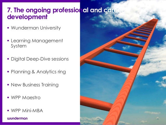 7. The ongoing professional and careerdevelopment Wunderman University Learning Management  System Digital Deep-Dive se...