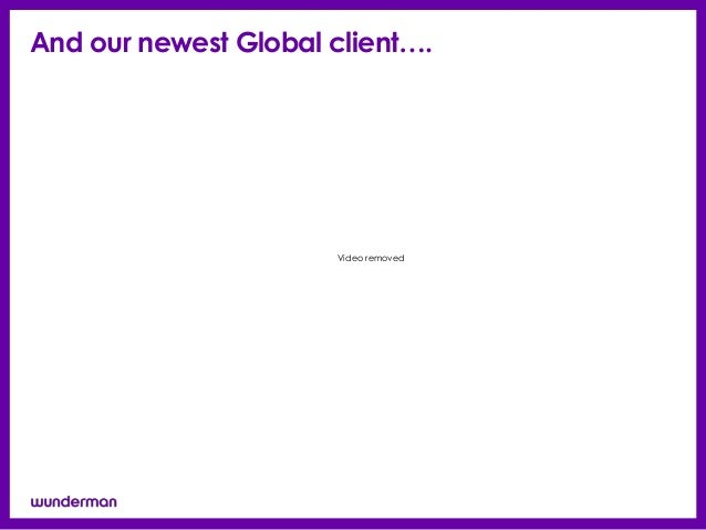 And our newest Global client….                      Video removed